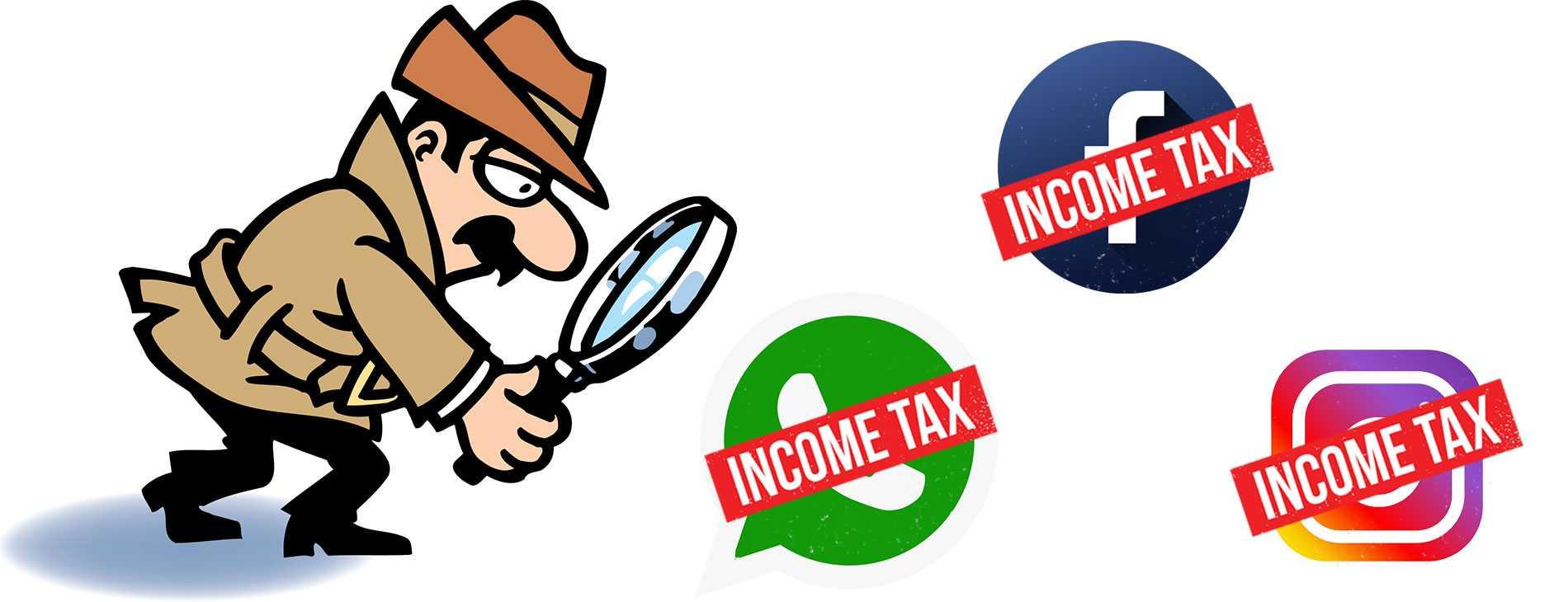 Income tax raid thru social media