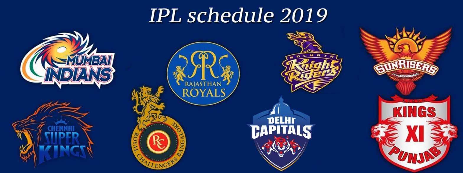 IPL 2019 schedule list