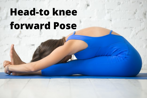 Head-to knee forward Yoga Pose